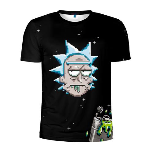 Мужская футболка 3D спортивная с принтом Drunk Rick, вид спереди #2