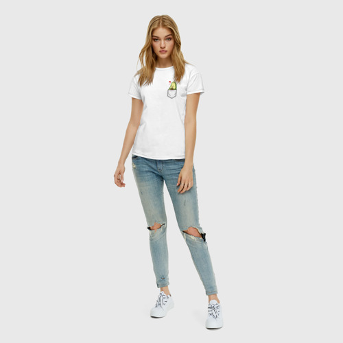 Женская футболка с принтом Авокадо в кармане, вид сбоку #3