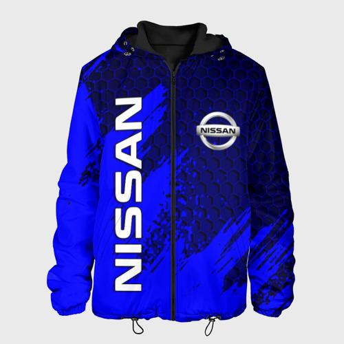 Мужская куртка 3D с принтом NISSAN, вид спереди #2