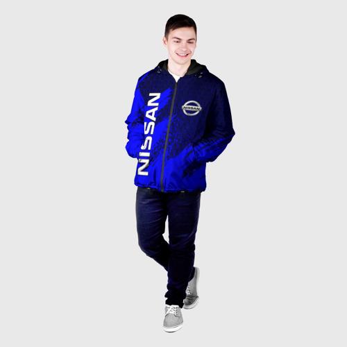 Мужская куртка 3D с принтом NISSAN, фото на моделе #1