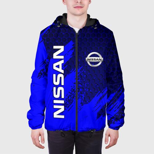 Мужская куртка 3D с принтом NISSAN, вид сбоку #3