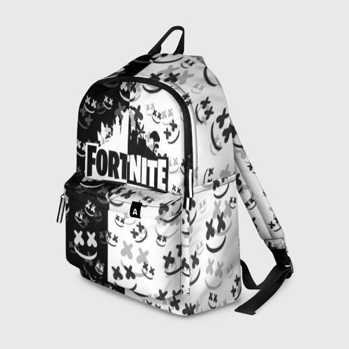 Рюкзак 3D с принтом FORTNITE | MARSHMELLO, вид спереди #2