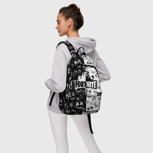 Рюкзак 3D с принтом FORTNITE | MARSHMELLO, фото #4