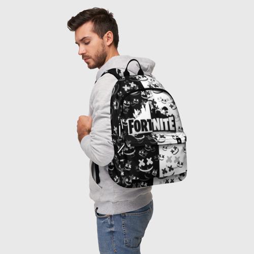 Рюкзак 3D с принтом FORTNITE | MARSHMELLO, фото на моделе #1