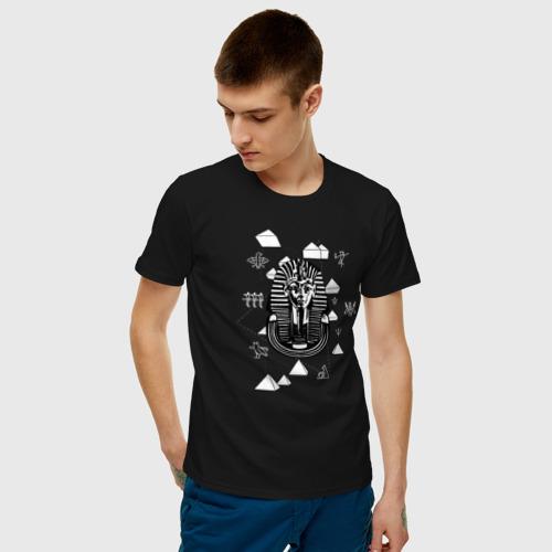 Мужская футболка с принтом Каир Древний Египет, фото на моделе #1