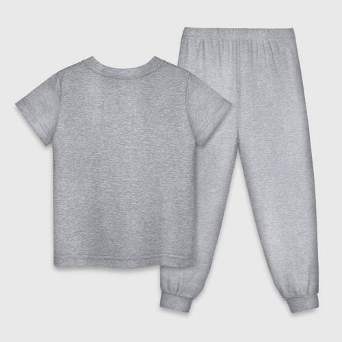 Детская пижама с принтом Fortnite Marshmello, вид сзади #1