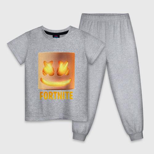 Детская пижама с принтом Fortnite Marshmello, вид спереди #2