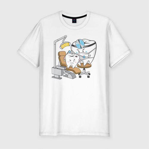 Мужская футболка премиум Лечить зубы