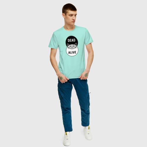 Мужская футболка с принтом Shredinger cat, вид сбоку #3