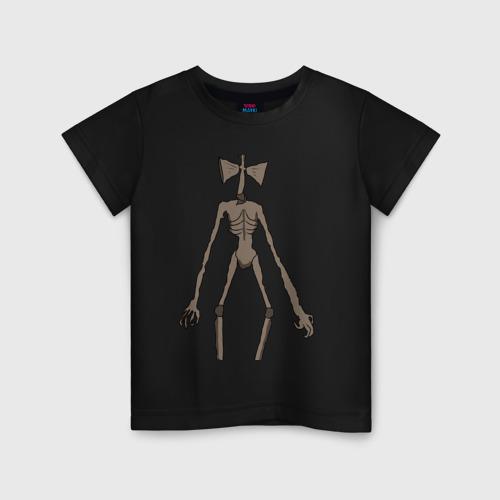 Детская футболка с принтом Сиреноголовый монстр, вид спереди #2