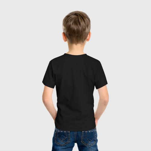 Детская футболка с принтом Сиреноголовый монстр, вид сзади #2