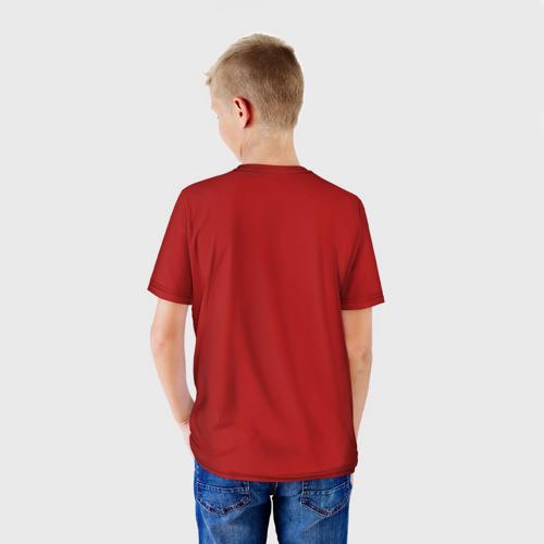 Детская 3D футболка с принтом Геранд-шоп Кв-44, вид сзади #2