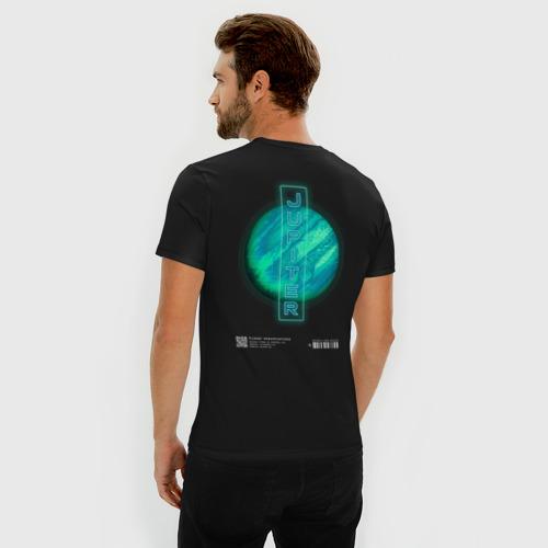 Мужская футболка премиум с принтом JUPITER (ЮПИТЕР), вид сзади #2