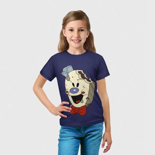 Детская 3D футболка с принтом Ice Scream:Horror Neighborhood, вид сбоку #3