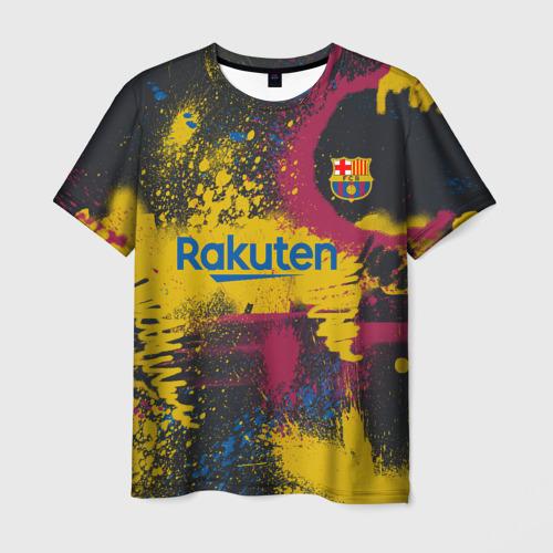 Мужская 3D футболка FC Barcelona | La Liga pre-match shirt (2021)