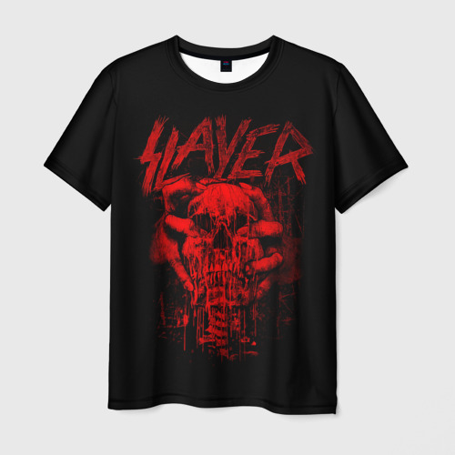 Мужская 3D футболка с принтом Slayer, вид спереди #2