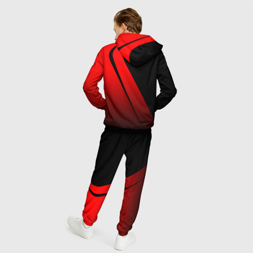 Мужской 3D костюм с принтом FC Bayern Munchen Форма, вид сзади #2