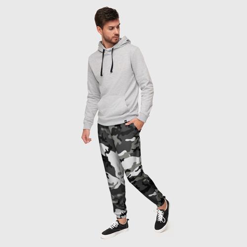 Мужские брюки 3D с принтом Маскировка, фото на моделе #1