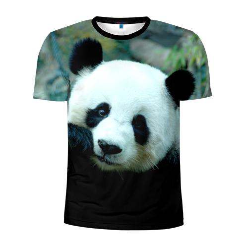 Мужская футболка 3D спортивная Панда