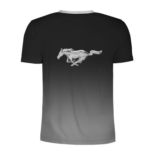 Мужская футболка 3D спортивная с принтом Mustang, вид сзади #1