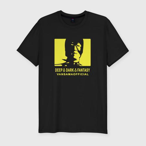 Мужская футболка премиум VANSAMA OFFICIAL Yellow