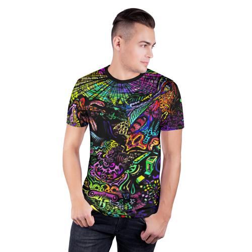 Мужская футболка 3D спортивная с принтом PSYHODELIC, фото на моделе #1