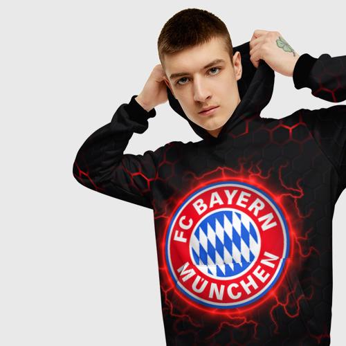 Мужская 3D толстовка с принтом Бавария (футбольный клуб), вид сбоку #3