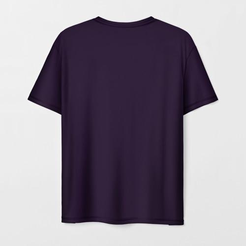 Мужская 3D футболка с принтом Техно Кот, вид сзади #1