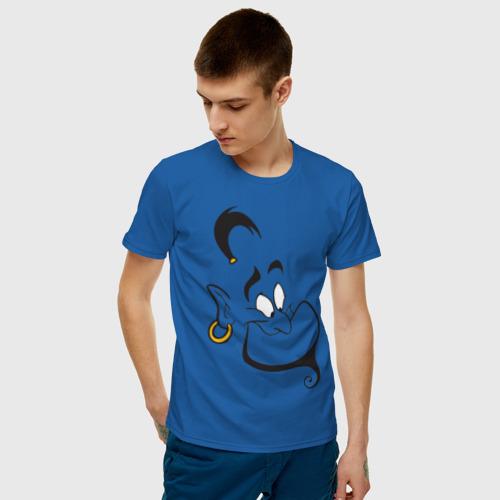 Мужская футболка с принтом Джинн, фото на моделе #1