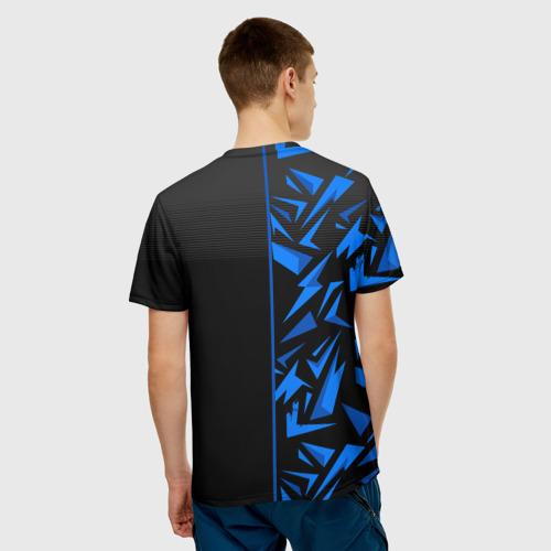 Мужская 3D футболка с принтом РОТОР Волгоград, вид сзади #2