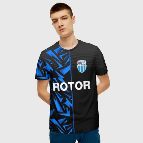 Мужская 3D футболка с принтом РОТОР Волгоград, фото на моделе #1