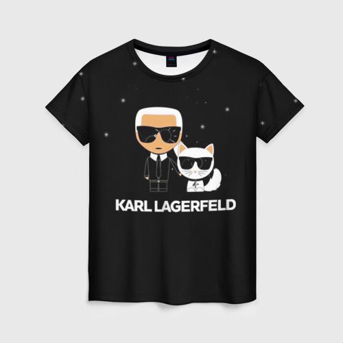 Женская 3D футболка Karl Lagerfeld