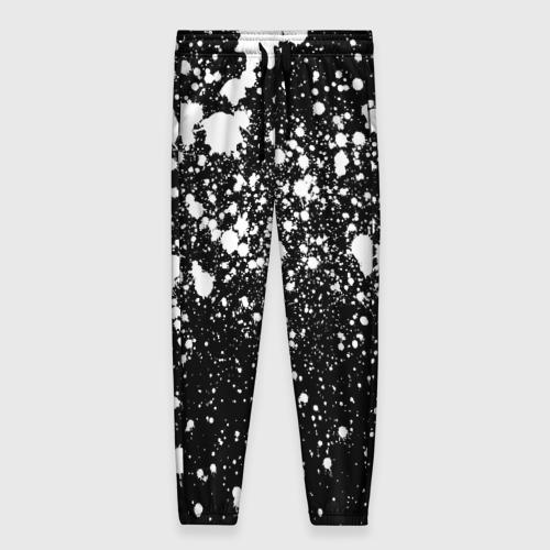 Женские брюки 3D с принтом Белая краска, вид спереди #2