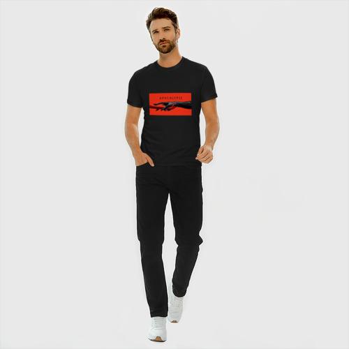 Мужская футболка премиум с принтом Американская История Ужасов, вид сбоку #3