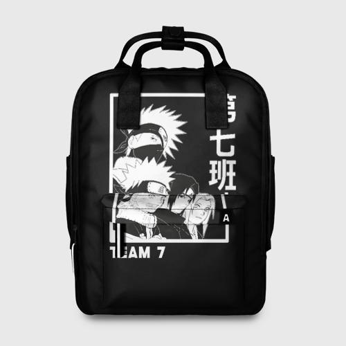 Женский рюкзак 3D с принтом Команда 7, вид спереди #2