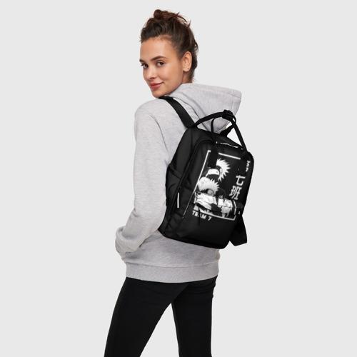 Женский рюкзак 3D с принтом Команда 7, вид сбоку #3
