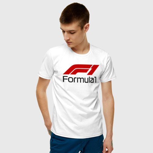 Мужская футболка с принтом Формула 1, фото на моделе #1