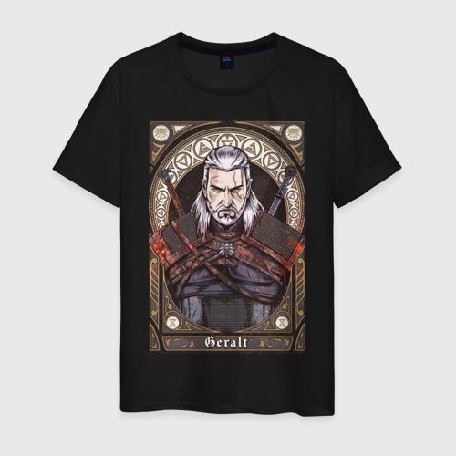 Мужская футболка с принтом The Witcher, Geralt, Ведьмак,, вид спереди #2