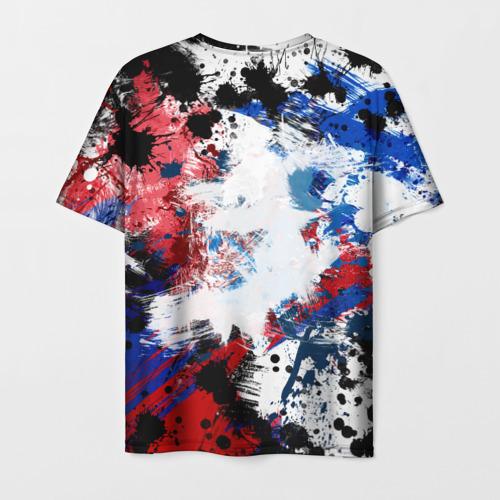 Мужская 3D футболка с принтом PSG FC, вид сзади #1