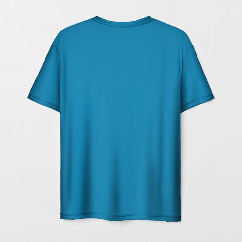 Мужская 3D футболка с принтом КОРЖИК, вид сзади #1