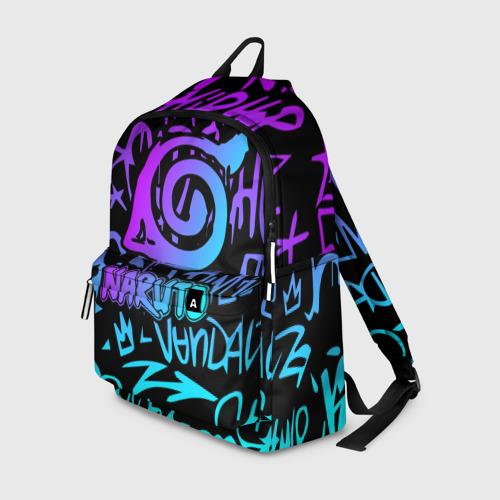 Рюкзак 3D с принтом НАРУТО НЕОН | NARUTO NEON, вид спереди #2
