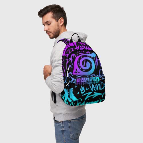 Рюкзак 3D с принтом НАРУТО НЕОН | NARUTO NEON, фото на моделе #1