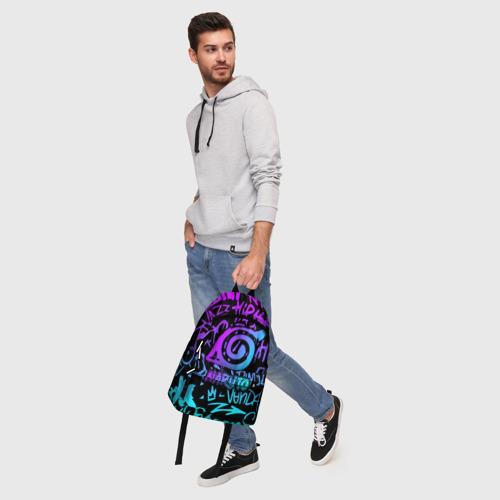 Рюкзак 3D с принтом НАРУТО НЕОН | NARUTO NEON, фото #5