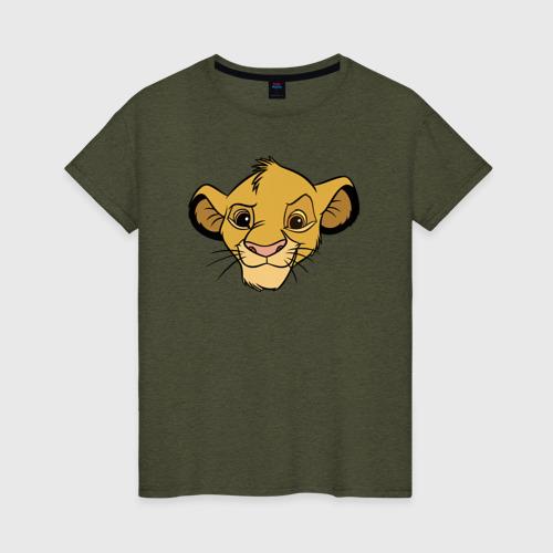 Женская футболка Львенок Симба