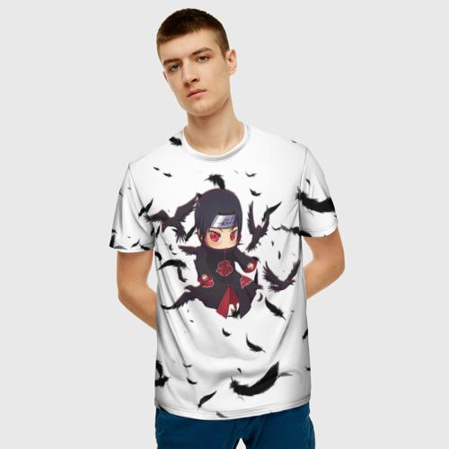 Мужская 3D футболка с принтом Итачи | Itachi, фото на моделе #1