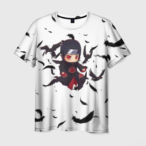 Мужская 3D футболка с принтом Итачи | Itachi, вид спереди #2