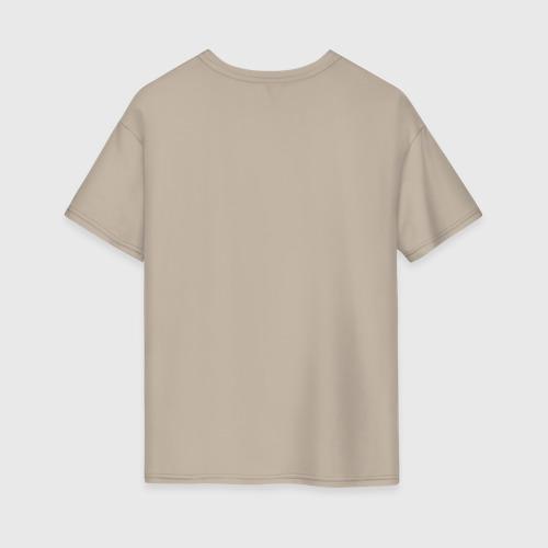 Женская футболка oversize с принтом Шрам, вид сзади #1
