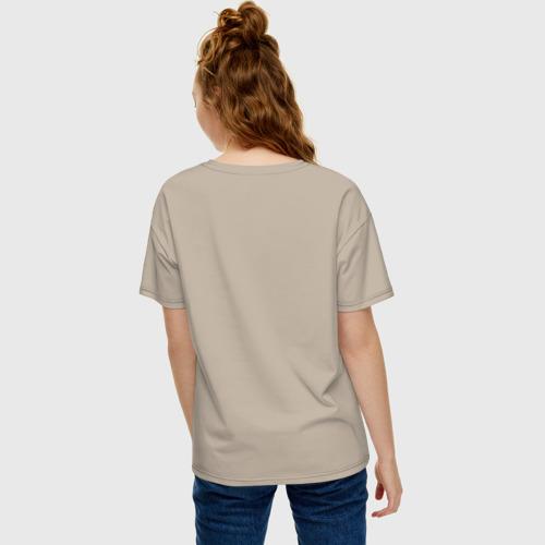 Женская футболка oversize с принтом Шрам, вид сзади #2