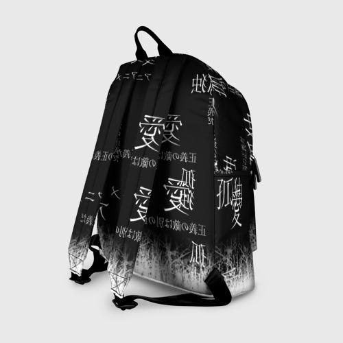Рюкзак 3D с принтом Итачи, вид сзади #1
