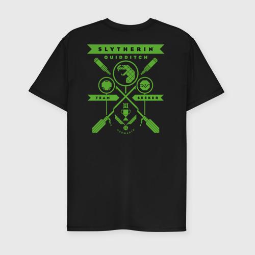 Мужская футболка премиум с принтом Slytherin Quidditch, вид сзади #1